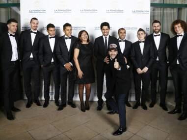 Jamel Debbouze s'amuse avec Zlatan au gala de la fondation du PSG