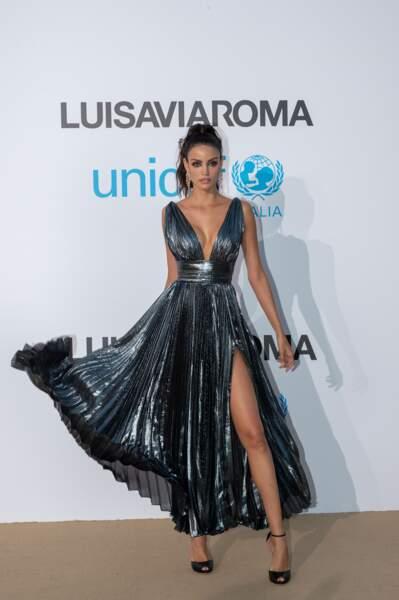 Sofia Resing, au gala de l'UNICEF en Sardaigne, le 10 août 2018