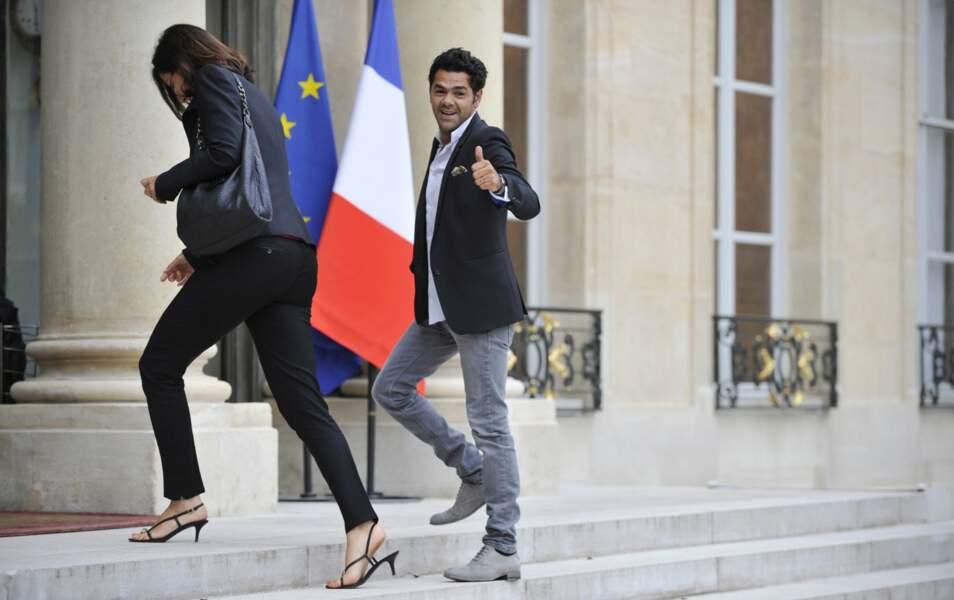 Jamel Debbouze arrive à l'Elysée