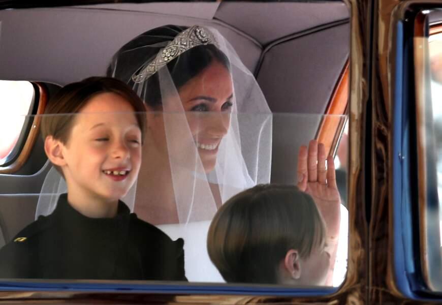 Royal wedding : l'arrivée des enfants d'honneur avec Kate Middleton