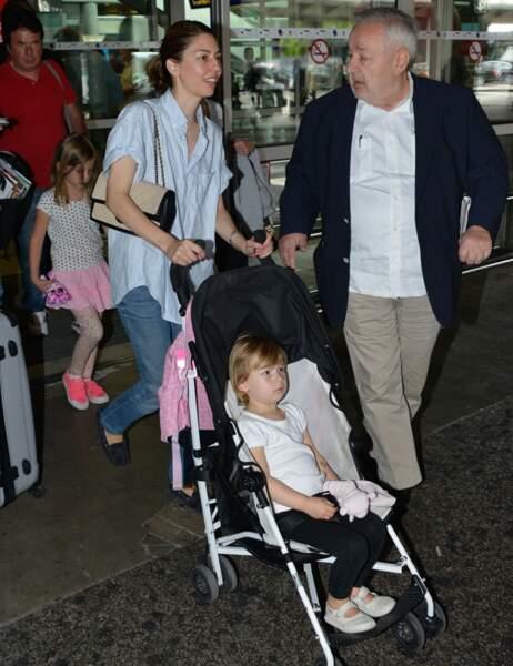 La réalisatrice américaine Sofia Coppola venue en famille