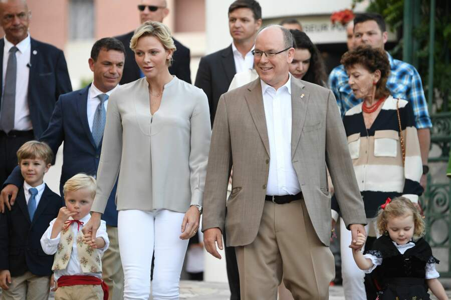 Jacques et Gabriella trop mignons lors du traditionnel pique-nique de Monaco