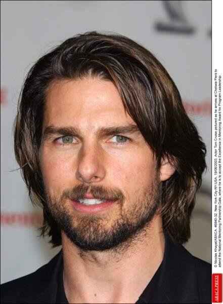 Tom Cruise barbu : beau gosse.