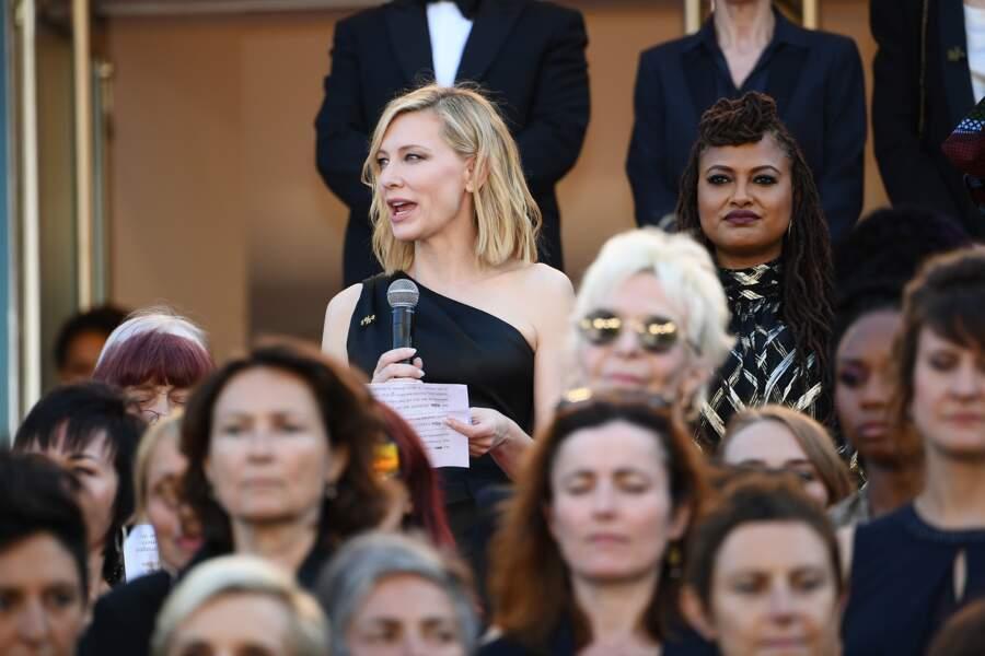 Cate Blanchett lit un discours