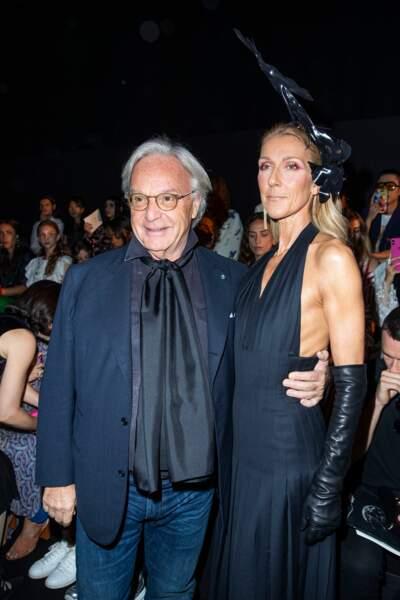 Céline Dion avec Diego Della Valle au défilé haute couture Schiaparelli, lundi 1er juillet