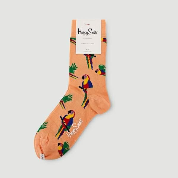 Chaussettes imprimées perroquets, Monoprix, 9€