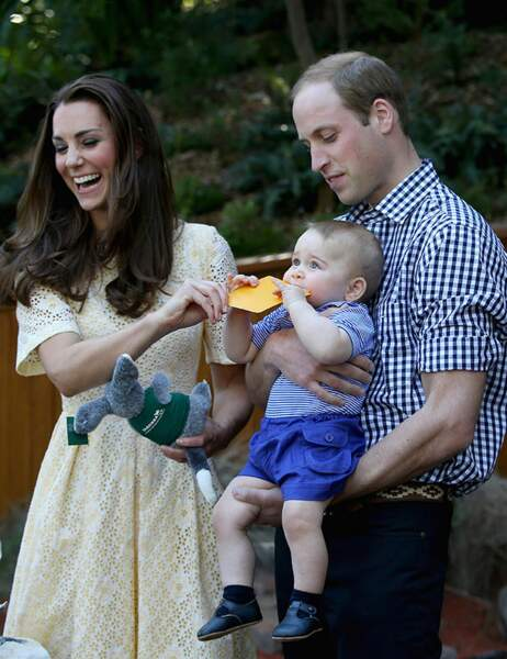 Le Prince George est impatient de voir les animaux