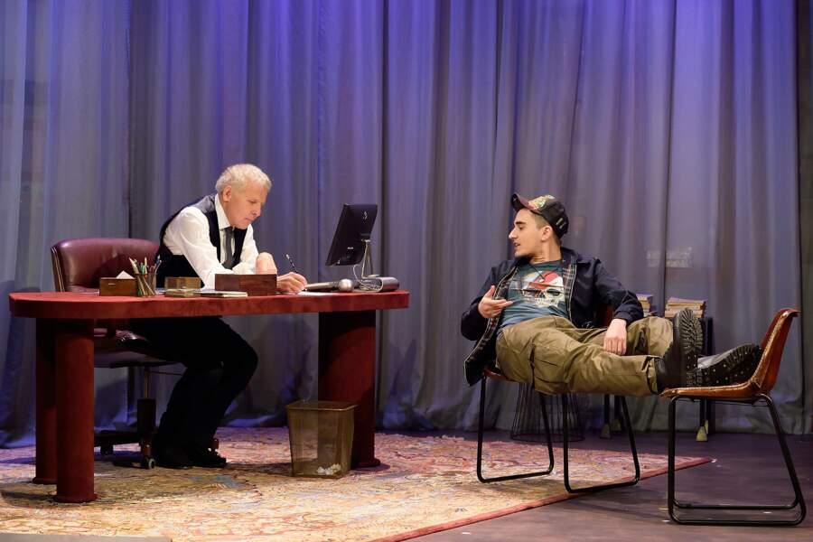 Patrick Poivre d'Arvor au théâtre dans la pièce Garde alternée