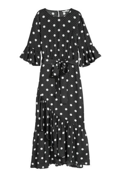 Robe volantée à pois, H&M, 28,99 euros au lieu de 49,99 euros