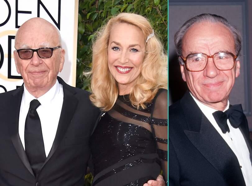 Rupert Murdoch aujourd'hui à 84 ans et à 59 ans, l'âge actuel de sa fiancée Jerry Hall