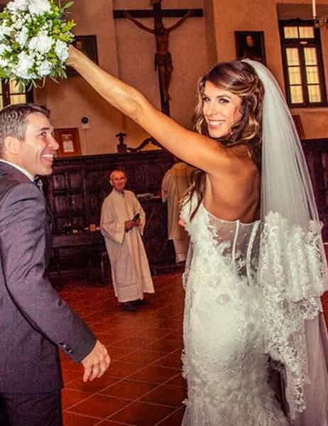Elisabetta Canalis, l'ex-copine de George Clooney, et son mari Brian Perri