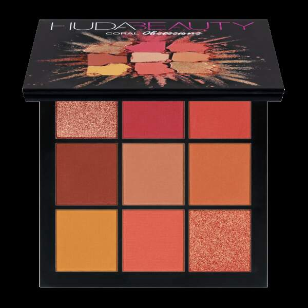Palette coral obsessions, Huda Beauty, 29,95€
