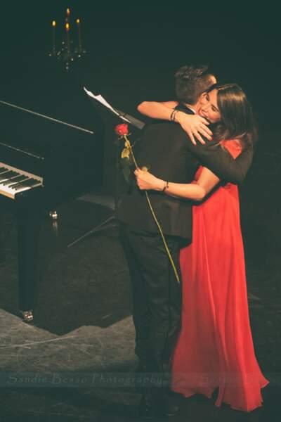 Concert de Michal : le chanteur avec Karine Ferri