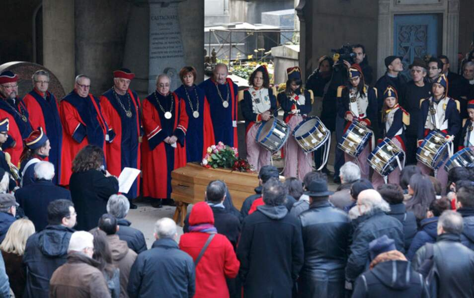Les obsèques de Jean-Louis Foulquier au cimetière de Montmartre