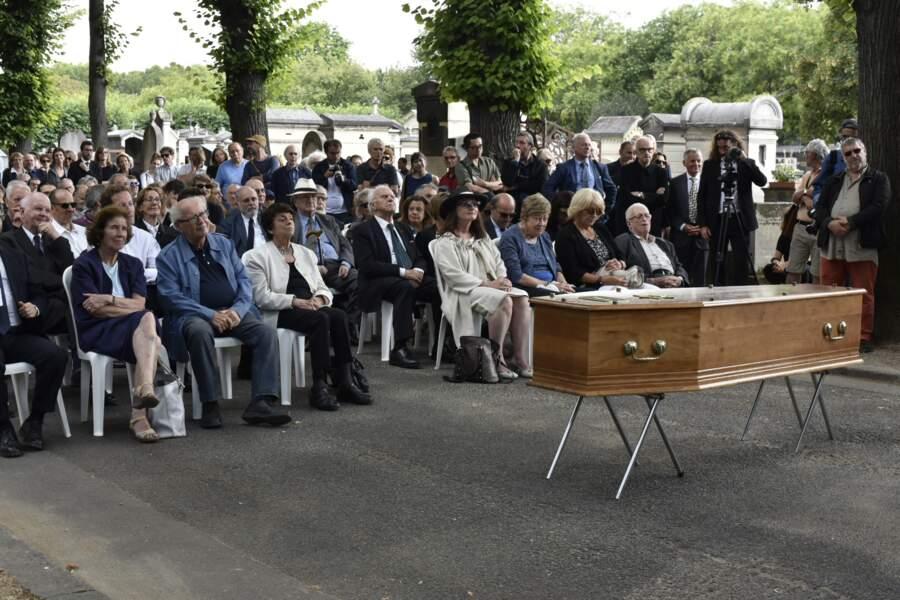 Obsèques de Claude Lanzmann au cimetière du Montparnasse