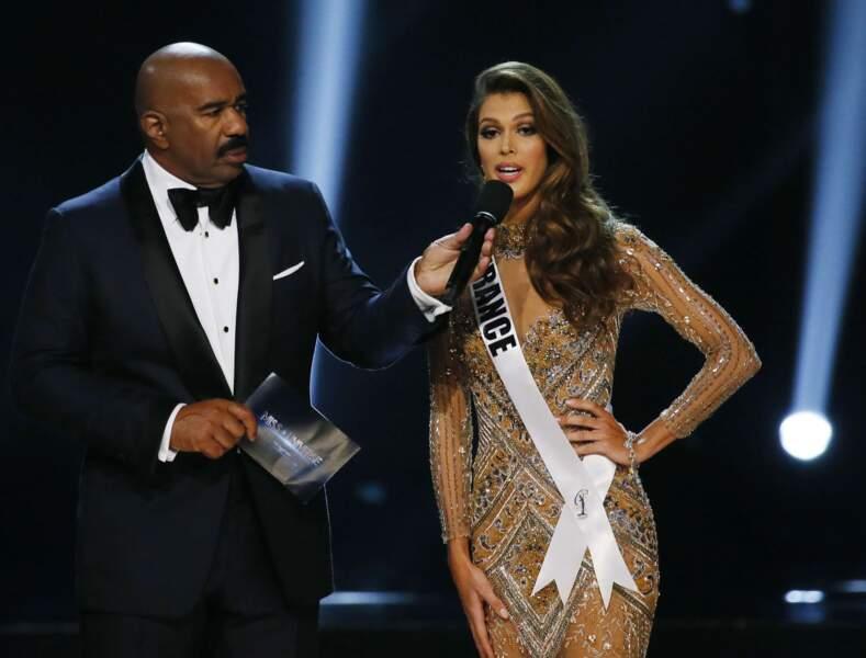 Iris Mittenaere élue Miss Univers : speech time