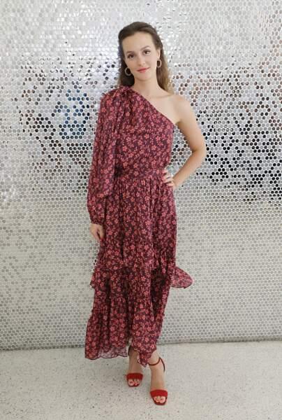 Leighton Meester et sa robe à fleurs