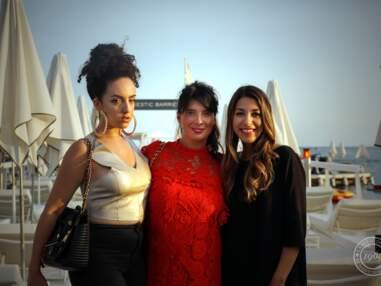 Marine Lorphelin et des blogueuses mode à La Folie Douce à Cannes