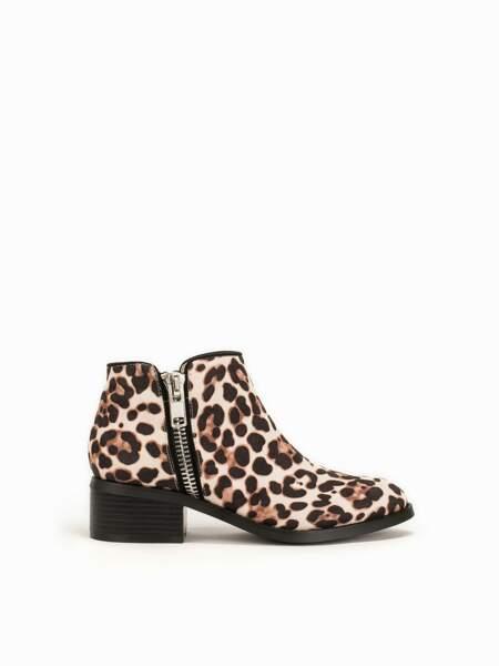 Low boots léopard zippées, nelly.com, 59,95€