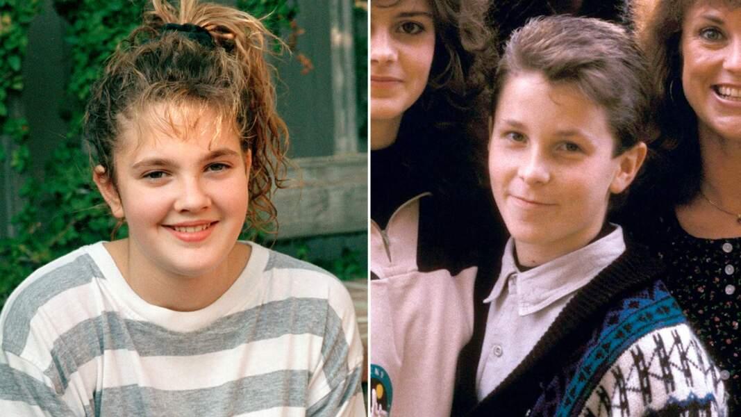 Août 1987: Drew Barrymore et Christian Bale, 13 ans, ont un rencard