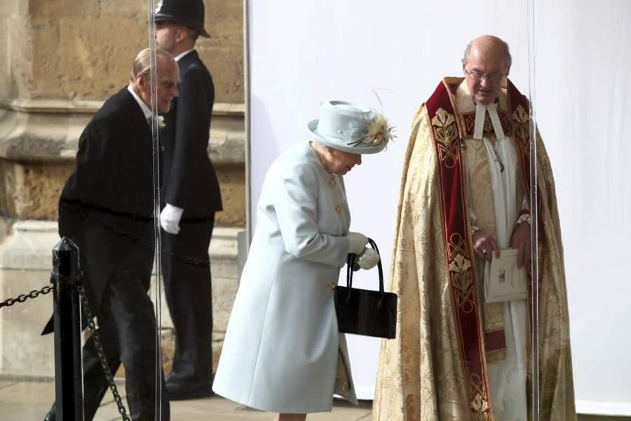 Le reine Elizabeth II et le prince Philip au mariage de la princesse Eugenie et Jack Brooksbank