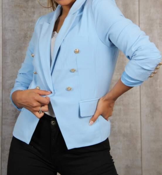 Blazer bleu clair sur brentigny.com, actuellement en promo à 32,19€