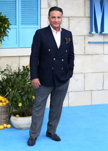 Andy Garcia à l'avant-première de Mamma Mia 2 à Londres, le 16 juillet