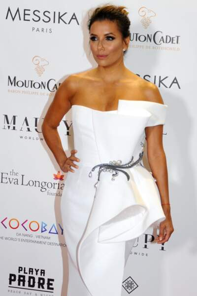 Eva Longoria à la soiree de Gala Global Gift 2017, à Cannes