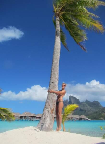 Heidi Klum et son cocotier