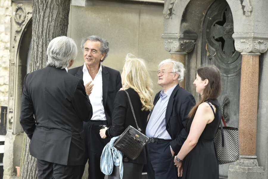 Obsèques de Claude Lanzmann au cimetière du Montparnasse : Bernard-Henri Levy