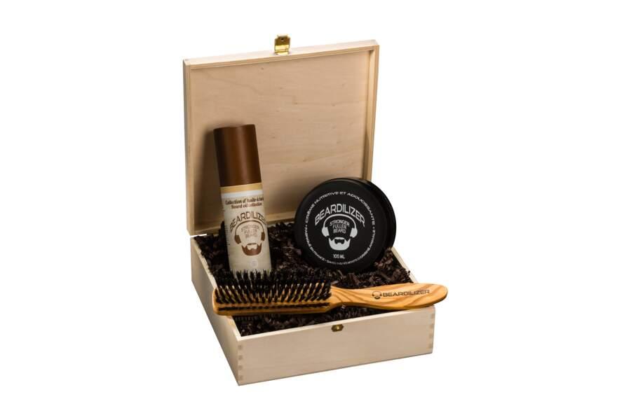 Coffret beauté. 64,90€, Beardilizer disponible en pharmacie, barbier, coiffeur et sur www.beardilizer-store.com