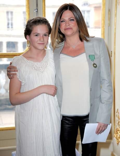 Charlotte Valandrey avec sa fille Tara