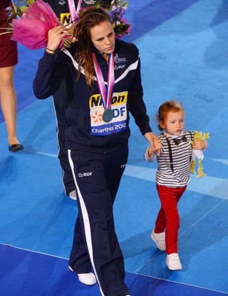Laure Manaudou et sa fille Manon