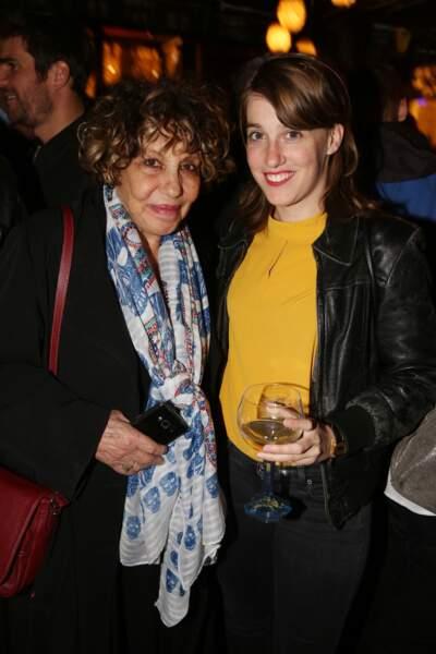 Liliane Rovere et Fanny Sidney à la fête de fin de tournage de la saison 3 de Dix pour cent, le 25 avril à Paris