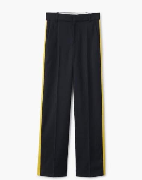 Pantalon à liserés contrastants, Mango, 49,99 euros