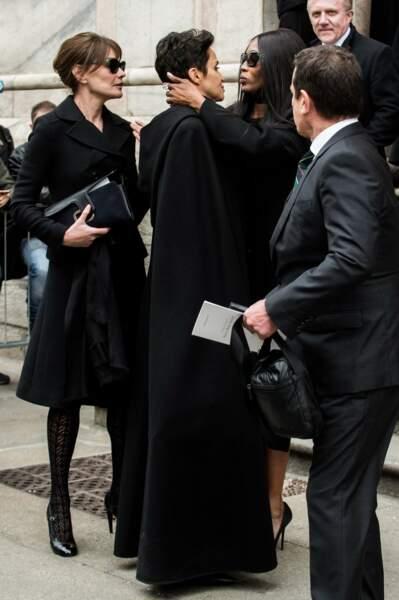Messe hommage à Franca Sozzani : Carla Bruni, Farida Khelfa et Naomi Campbell