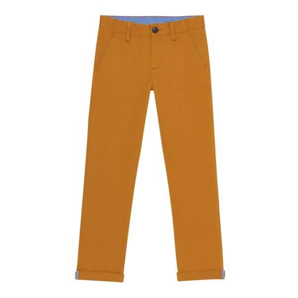 Pantalon. En coton et élasthanne, du 3 au 14 ans 19,99 €, Monoprix