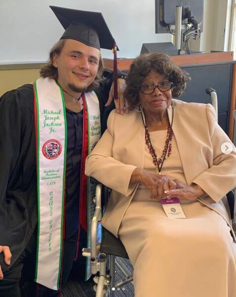 Prince Jackson avec sa grand-mère, Katherine Jackson