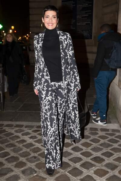 Fashion Week Haute Couture : Cristina Cordula (on est pas hyper fans de l'imprimé, ma chérie)