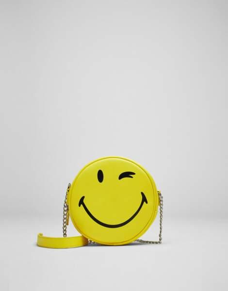 Pour celles qui sont accro aux émojis : sac émoticône, Pull & Bear, 14,95€