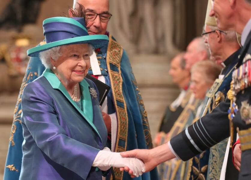 La Reine Elizabeth II au centenaire de la Royal Air Force, à Londres