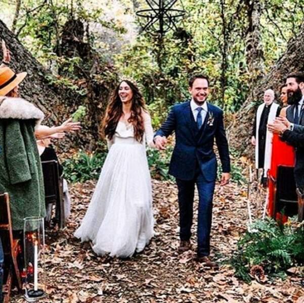 Mariage de Troian Bellisario : les jeunes époux en pleine nature