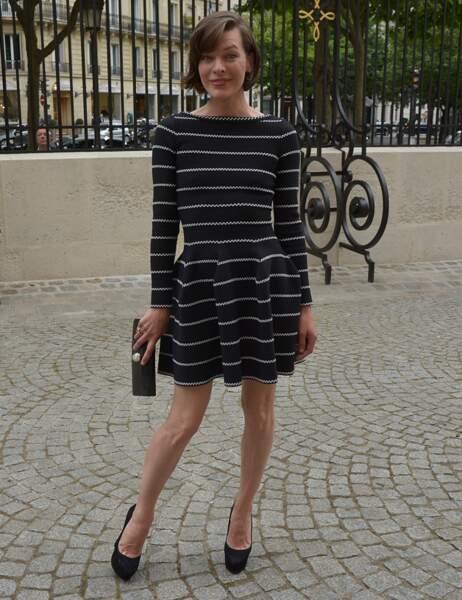En revanche, Milla Jovovich n'avait pas besoin de fioritures pour briller