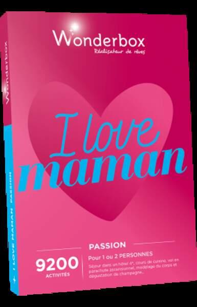Coffret Wonderbox I love Maman Passion : 99,90€