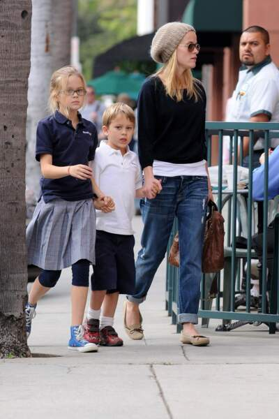Reese Witherspoon aves sa fille Ava et son fils Deacon