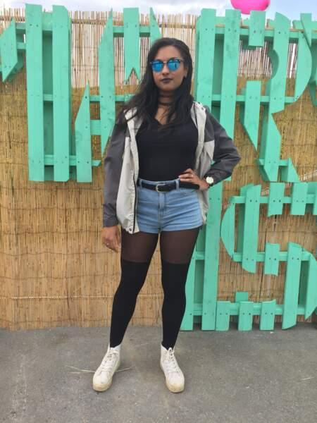 Marvellous Island Festival 2016: Jessica et ses collants trompe-l'oeil New Look