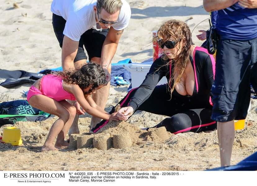 Les people à la plage ? Ils s'amusent comme des gosses : Mariah Carey