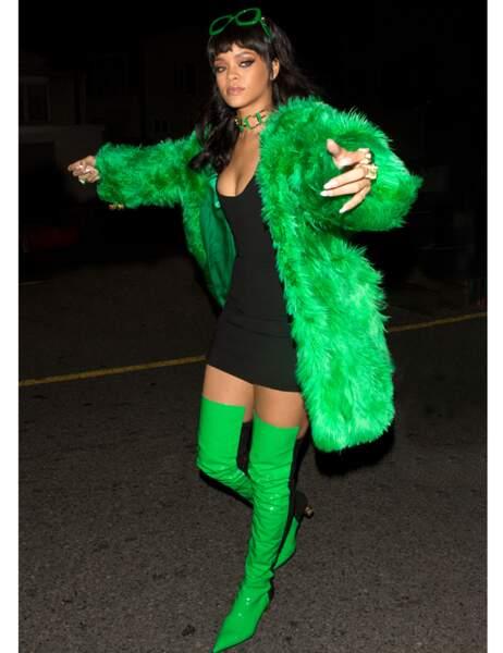 Rihanna nous fait son remake du frelon vert !
