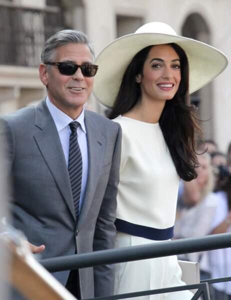 Evidemment ! George Clooney et Amal Alamuddin