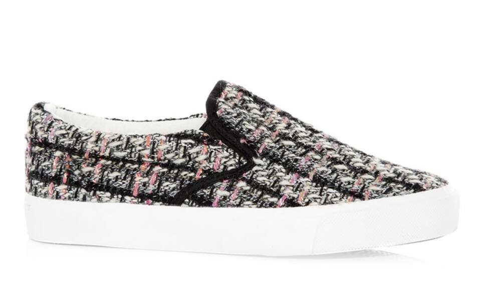 Slip-on en tweed, 19,99€, New Look